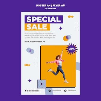 Vorlage für e-commerce-flyer