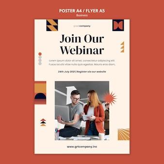Vorlage für ein business-webinar-plakat
