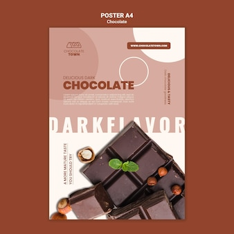 Vorlage für ein leckeres schokoladenplakat