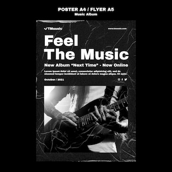 Vorlage für ein neues musikalbum-poster