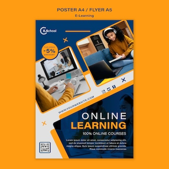 Vorlage für ein online-lernplakat
