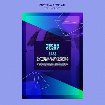 Vorlage für ein poster mit farbverlaufstechnologie