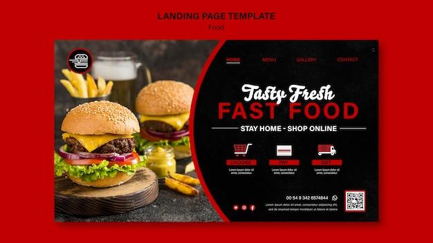Vorlage für eine fast-food-landingpage