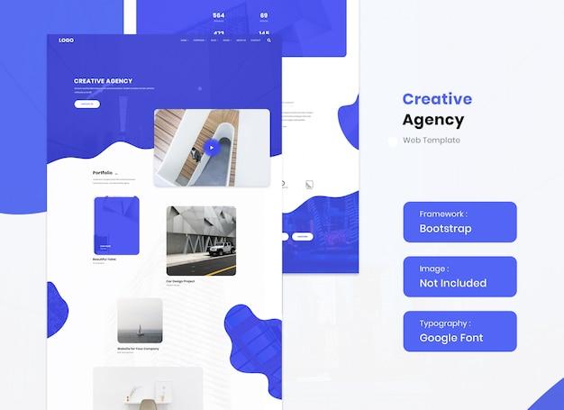 Vorlage für eine kreativagentur und eine website für digitales marketing