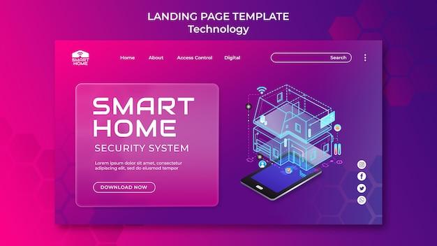 Vorlage für eine smart home-landingpage
