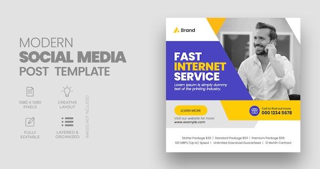 Vorlage für einen internet-social-media-beitrag oder eine web-banner-vorlage