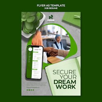 Vorlage für einen job-lebenslauf-flyer