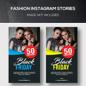 Vorlage für fashion instagram stories