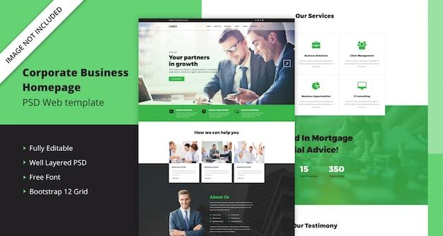 Vorlage für firmenkunden-homepage