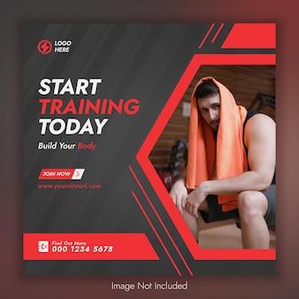 Vorlage für fitness-social-media- und instagram-posts
