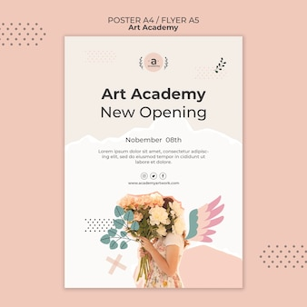 Vorlage für flyer zur eröffnung der kunstakademie