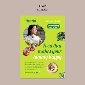 Vorlage für flyer zur lebensmittelsicherheit