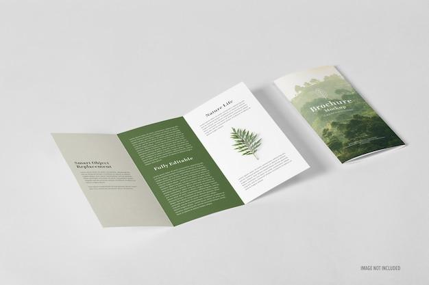 Vorlage für gefaltete broschüren-modelle