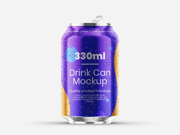 Vorlage für getränkedosen-mockup