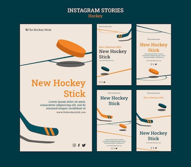 Vorlage für hockey-instagram-geschichten