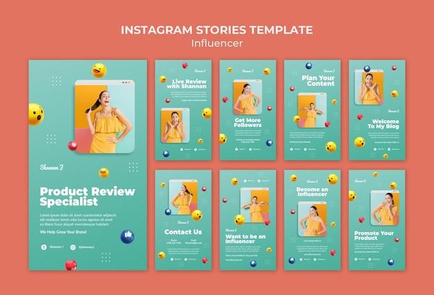 Vorlage für influencer-instagram-geschichten