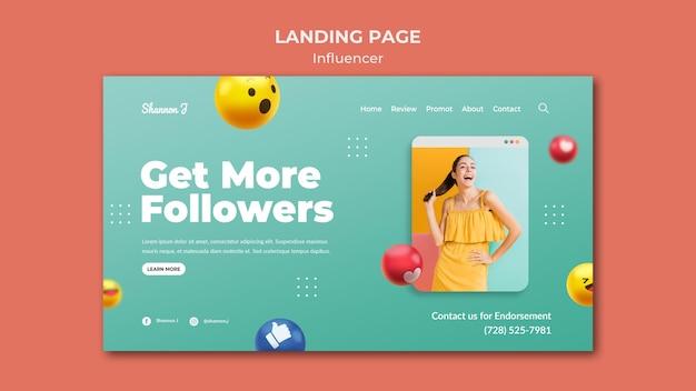 Vorlage für influencer-landingpages