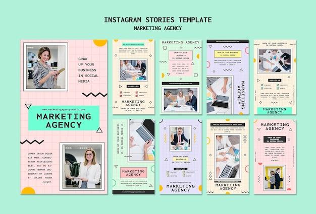 Vorlage für insta-storys für social media-marketingagenturen