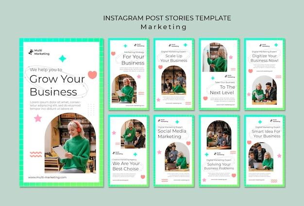 Vorlage für instagram-geschichten von marketingagenturen