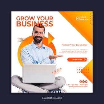 Vorlage für instagram-posts und social-media-banner für digitale marketingagenturen