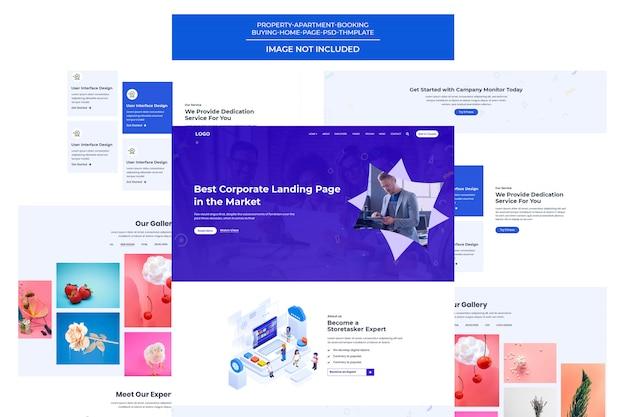 Vorlage für kreative und digitale webagenturen