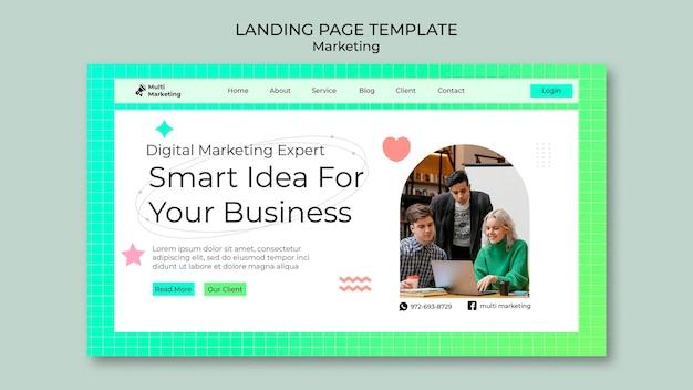 Vorlage für marketing-landingpages