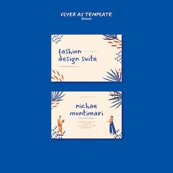 Vorlage für modedesign-visitenkarten