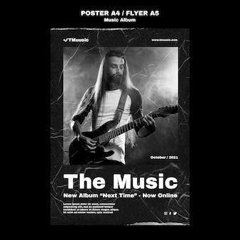Vorlage für musikalbum-flyer