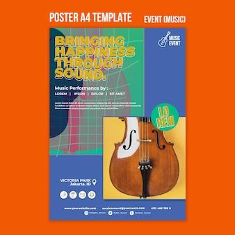 Vorlage für musikereignisplakate Kostenlosen PSD
