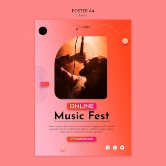 Vorlage für musikereignisplakate