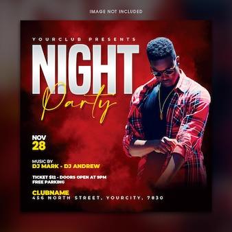 Vorlage für nachtparty-flyer