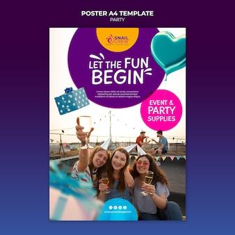Vorlage für partyfeierplakate