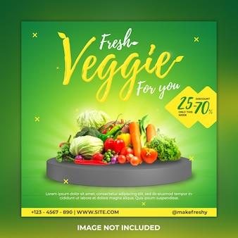Vorlage für pflanzliche social-media-beiträge und vegetarische instagram-beiträge