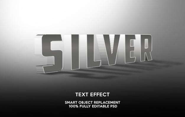 Vorlage für silberne texteffekte