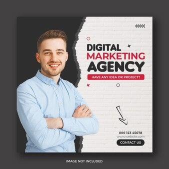 Vorlage für social-media-beiträge für agenturen für digitales marketing und unternehmensförderung