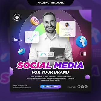 Vorlage für social-media-beiträge für business-instagram