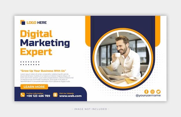 Vorlage für social-media-beiträge für digitales marketing premium psd