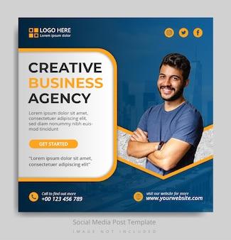 Vorlage für social-media-beiträge für kreativagenturen