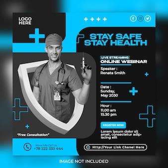 Vorlage für social-media-beiträge für medizinische gesundheitsflyer