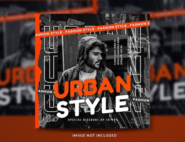 Vorlage für social-media-beiträge für urbane mode