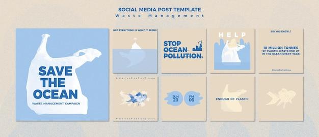 Vorlage für social-media-beiträge zur abfallwirtschaft