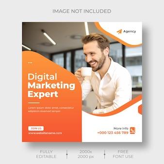 Vorlage für social media- und instagram-posts für digitales marketing