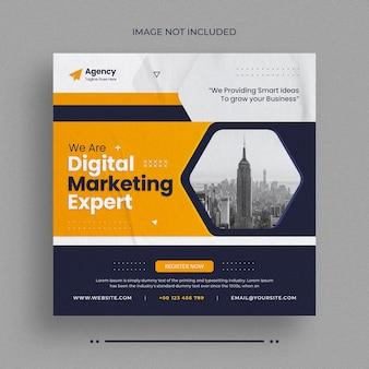 Vorlage für social-media-webbanner und instagram-bannerpost für agenturen für digitales marketing