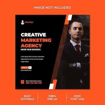 Vorlage für soziale medien der creative marketing agency