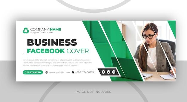 Vorlage für unternehmenswerbung und facebook-cover für unternehmen