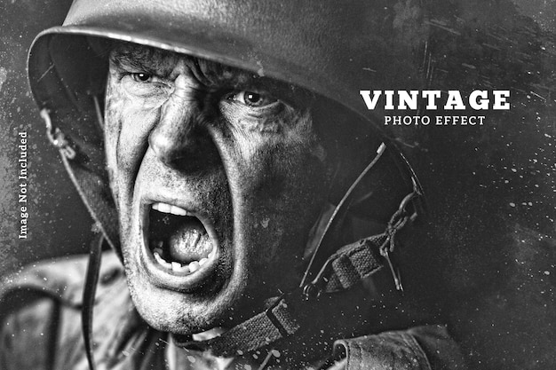 Vorlage für vintage-fotoeffekte