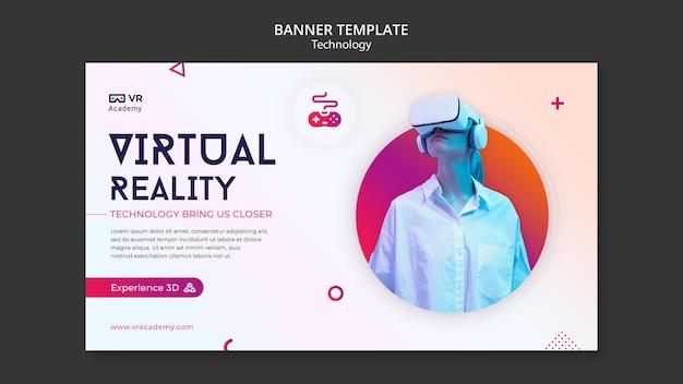 Vorlage für virtual-reality-banner