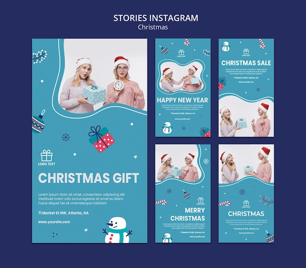 Vorlage für weihnachtsverkaufsgeschichten Premium PSD