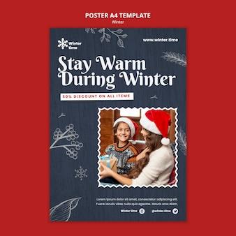 Vorlage für wintergarderobe-poster
