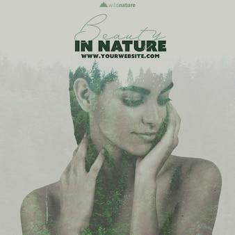 Vorlage mit wildem naturdesign